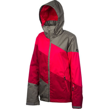 Roxy Lily Pad Jacket - Women's Raspberry/Cardinal/Heather Grey, XL