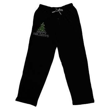 Happy Holidays Sparkles Relaxed Adult Lounge Pants