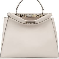Fendi - Peekaboo large leather tote