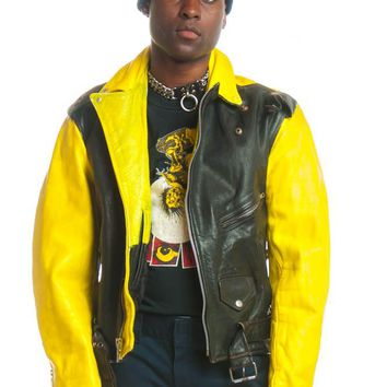 Vintage 90's I've Got Tunnel Vision Leather Jacket - M/L