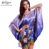 Women Plus Size Fashion Silk Nightgown