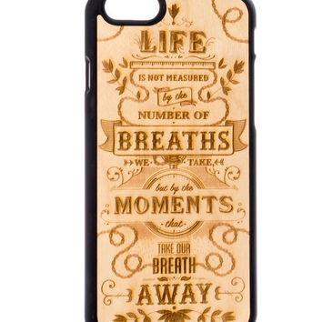 The Meaning from Birch - iPhone 6/6S Wood Cover - Unique iPhone wood case -FREE WORLDWIDE SHIPPING!Handmade in Europe!