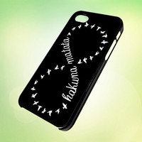 hakuna matata lion king symbol Black HP603 Design - Cover For iPhone 4, iPhone 4S, iPhone 5 -  Black, White or Clear Apple Case