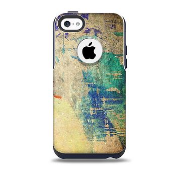 The Grunge Multicolor Textured Surface Skin for the iPhone 5c OtterBox Commuter Case