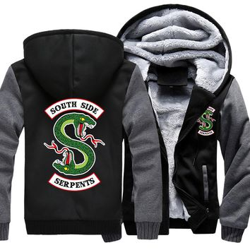 Fashion Brand Jackets Riverdale Hoodies Sweatshirts men's Jughead Jones South Side Serpents Coats Fleece Bomber Jackets NEW