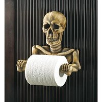 Spooky Skeleton Design Toilet Paper Holder