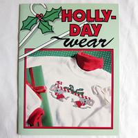 Holly-Day Wear Cross Stitch Design Book Christmas Embroidery