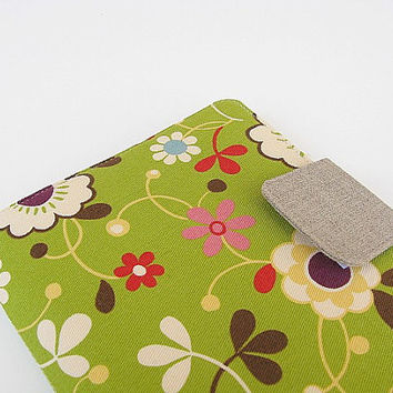 Ready To Ship Nook Simple Touch Cover Nook Glowlight Glolight Cover Case Green Floral Flowers Daisies Daisy eReader