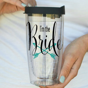 I'm The Bride - Bride Tribe Clear Travel Mug Tumbler