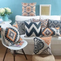 Nordic geometric throw pillow/almofadas case seat chair bed sofa,fashion orange design cushion cover home decore