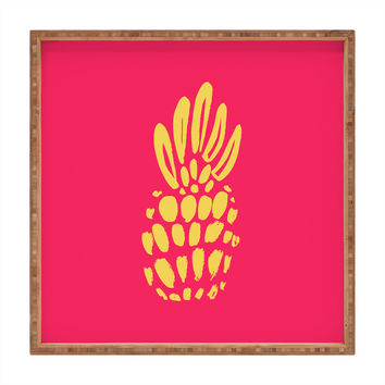 Allyson Johnson Neon Pineapple Square Tray