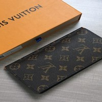 HCXX 19Aug 812 Louis Vuitton LV N63212 Fashion Classic Wallet Casual Clutch Bag Brown