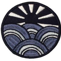 ALTRU PATCH: SUNBURST BLUE: FELT & EMBROIDERED.