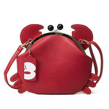 Cute Women Crab Bag Unique Design Young Ladies Chains Messenger Bag Women Messenger Bag Crossbody Shoulder Bag sac a main PP-558