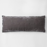 Gray Tufted Oversize Lumbar Pillow - Fieldcrest®