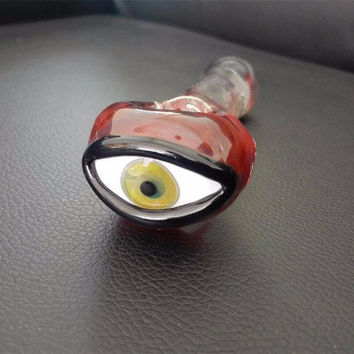 Red Eye Glass Smoking Pipe