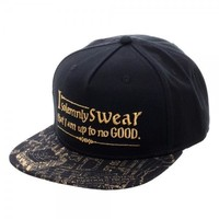 Harry Potter Marauder's Map Bill Sublimation with Metallic Verbiage Snapback