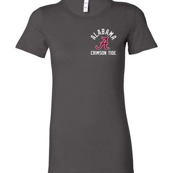 Official NCAA Venley University of Alabama Crimson Tide UA ROLL TIDE! Ladies Favorite Tee - 08AL-1