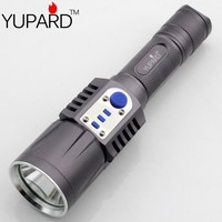 YUPARD XM-L2 T6 LED Flashlight Torch Brightness LED USB charge 5modes mobile power bank 18650 battery Intelligent flashlight