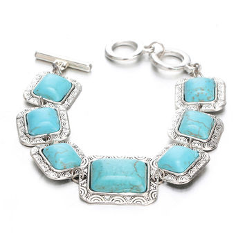 Silver And Turquoise Antique Bracelets For Women - Absolutely Free!
