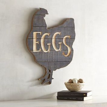 Eggs & Rooster Wall Decor