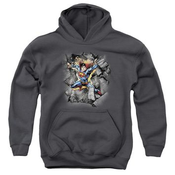 Superman - Break On Through Youth Pull Over Hoodie
