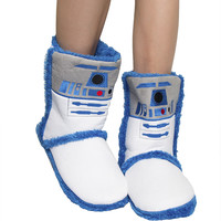 R2D2 BOOT SLIPPERS
