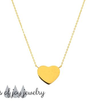 Modern Heart Diffuser Necklace - Gold