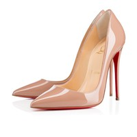 Cl Christian Louboutin So Kate Nude Patent Leather 120mm Stiletto Heel Fw13 - Best Online Sale