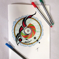 Neo Tribal Coloring Book by Matthew S. Kennedy Digital Downloads Available
