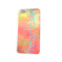 SALE Rubber iPhone 4 - 4S Case Fearless Rubber Case Only