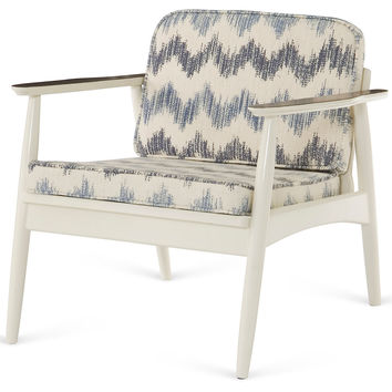 Vintage Petite Lounge Chair, White/Blue, Accent & Occasional Chairs