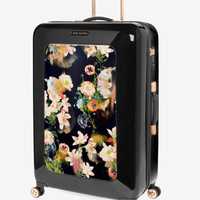 Large opulent bloom suitcase - Black | Bags | Ted Baker UK