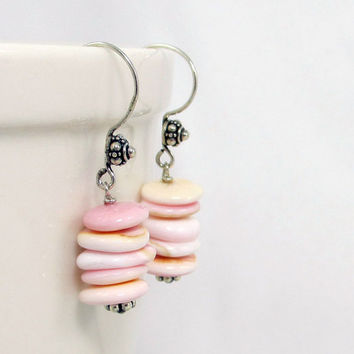 Conch Shell Earrings Sterling Silver