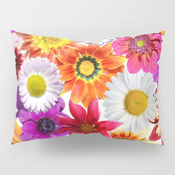 Colorful Spring Flowers Pillow Sham by Smyrna