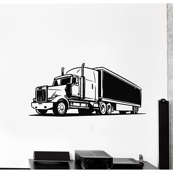 Vinyl Wall Decal Wagon Truck Car Transport Decor For Man Stickers Mural (g664)