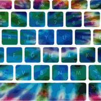 Hey Brah. Peace, Love and Tie Dye Macbook Keyboard Stickers