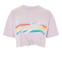 'LA' Rainbow T-Shirt | Topshop
