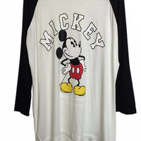 Mickey Graphic Print Long Sleeve Top