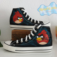 Angry Birds Hand Painted Custom Shoes