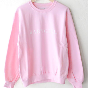 Babygirl Oversized Sweater - Pink
