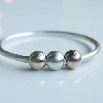 Fidget Ring, Worry Bead Ring, Spinner Ring, Anxiety Jewelry