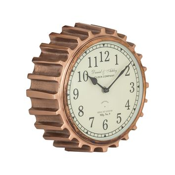 8984-013 Aged Copper Clock - Free Shipping!