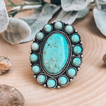 Moon Goddess Turquoise Ring