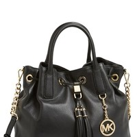 MICHAEL Michael Kors 'Large' Leather Drawstring Satchel