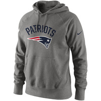 Men's New England Patriots Nike Gray Classic Practice Pullover Hoodie