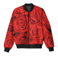 Red Roses Zip Up Jacket