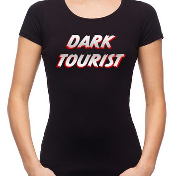 Dark Tourist Women's Babydoll Shirt Black Death Grief Tourism Alternative Clothing Thanatourism