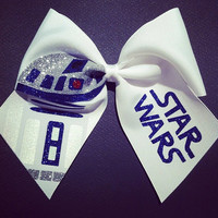 3in. Glitter R2D2 Star Wars Cheer Bow
