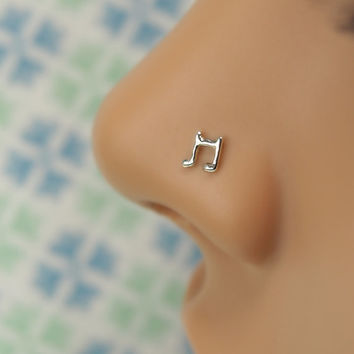 music note Nose Stud | GIFT for her | Gauge customize and shape | sterling silver| nose stud piercing jewelry |100% handcrafted |by PICOLANE